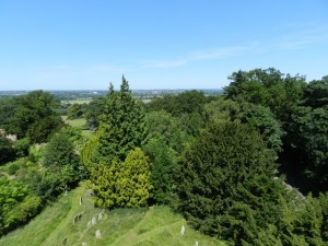 Looking towards Bletchley from the church tower