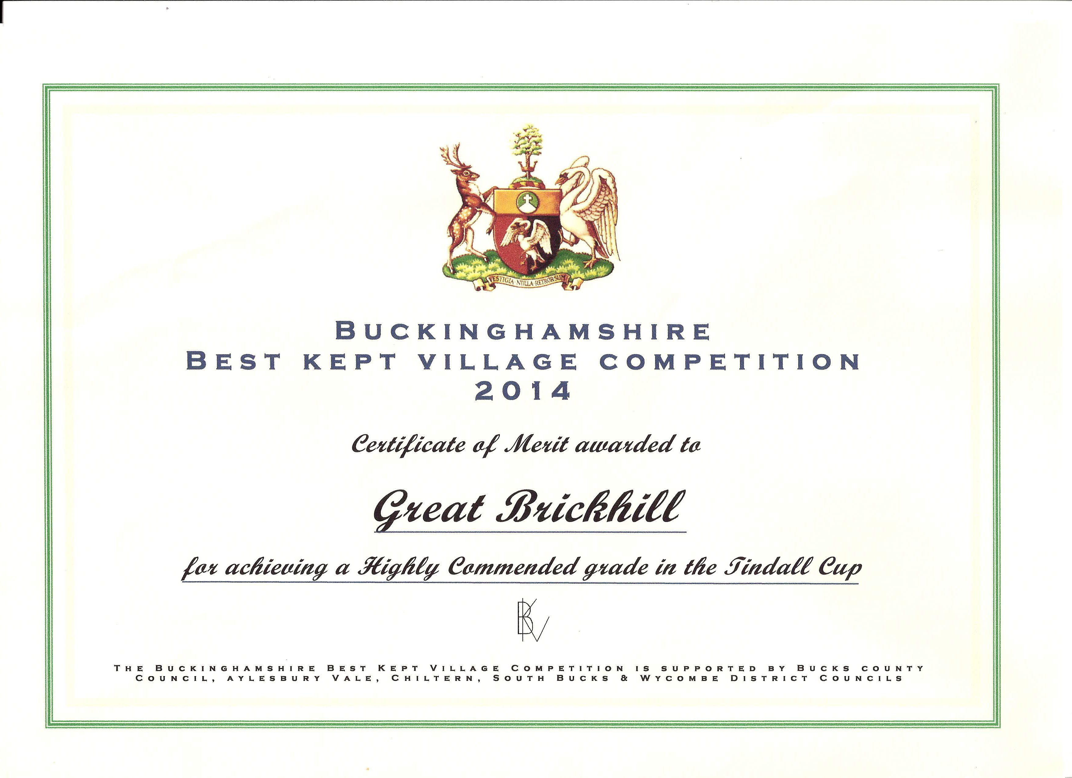 Best Kept Village award 2014