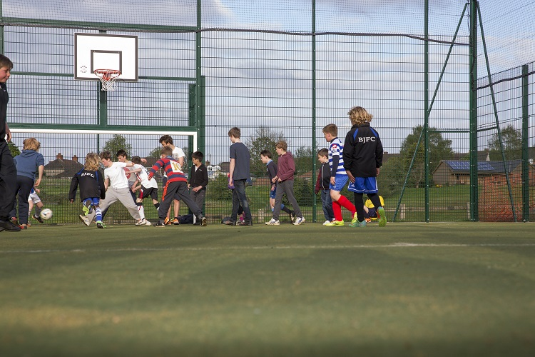 Five a side in the new MUGA