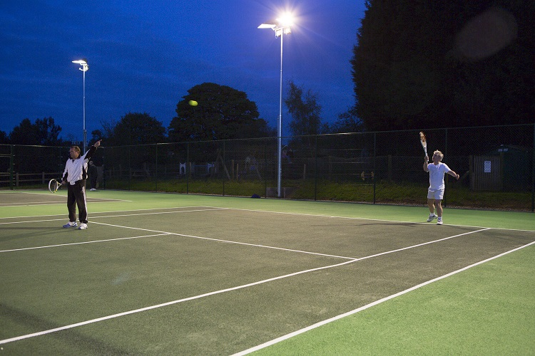 Floodlit tennis comes to Gt Brickhill