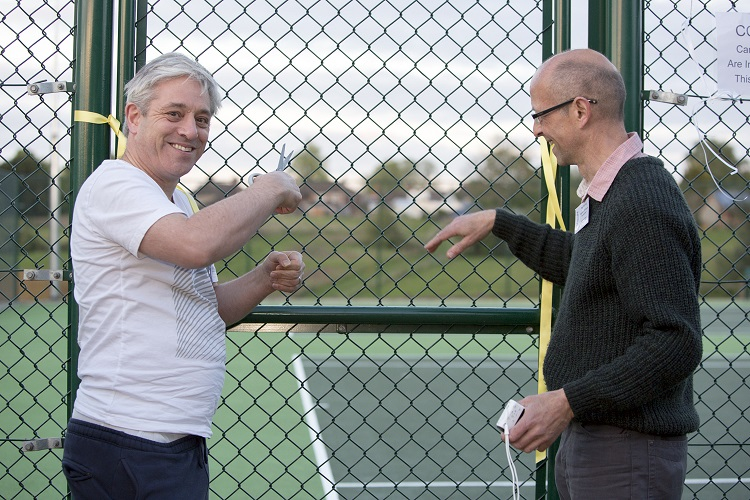 Official opening of the newly refurbished tennis courts